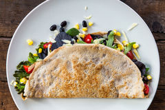 Savoury Buckwheat Pancake or Quesadilla Royalty Free Stock Photos