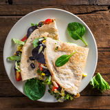Savoury Buckwheat Pancake or Quesadilla Royalty Free Stock Image