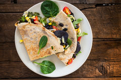 Savoury Buckwheat Pancake or Quesadilla Stock Image