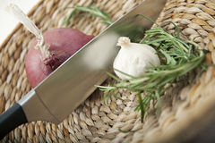 Savoury Cooking Ingredients stock image