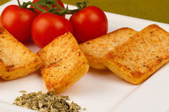 Savoury crackers Royalty Free Stock Images