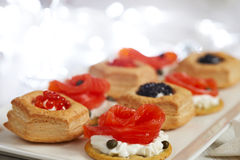 Savoury holiday appetizers Stock Images