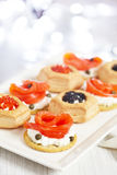Savoury holiday appetizers Royalty Free Stock Image