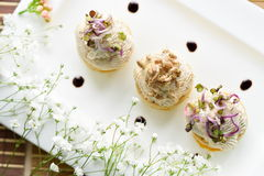 Savoury holiday snacks on plate Royalty Free Stock Photography