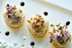 Savoury holiday snacks on plate Royalty Free Stock Image