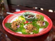 Savoury Leaf Wraps Miang Kham: Thai Food royalty free stock photography