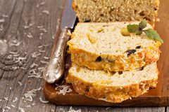 Savoury loaf cake Royalty Free Stock Photos