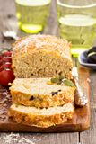 Savoury loaf cake Royalty Free Stock Images