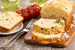 Savoury loaf cake Stock Photos