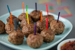 Savoury meatballs for party snacks Stock Photos