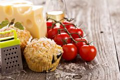 Savoury muffins with parmesan cheese Royalty Free Stock Photography