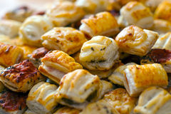 Savoury Pastries. Savoury Pastry Buffet Selection of Mini Pastries Royalty Free Stock Images