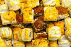 Savoury Pastry Snacks. Savoury Pastry Buffet Selection of Mini Pastries Stock Photos