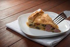 Savoury pie - torta salata Royalty Free Stock Photos