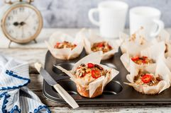 Savoury Potato Muffins Stock Photo