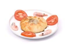Savoury round fried meat pie Royalty Free Stock Photos