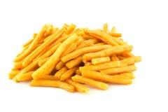 Savoury snack on white Royalty Free Stock Photos