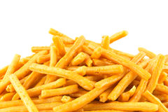 Savoury snack on white Royalty Free Stock Images