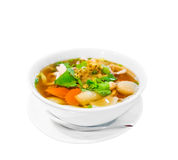 Savoury thick soup on white background royalty free stock photo