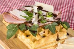 Savoury Waffle Royalty Free Stock Photo