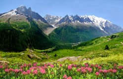 Savoy Alps. View of the Savoy Alps-Europe Stock Photo