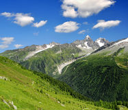 Savoy Alps-Europe. View of the Savoy Alps-Europe Royalty Free Stock Photos