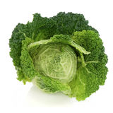 Savoy Cabbage. Over white background Royalty Free Stock Images