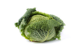 Savoy cabbage. Isolated on white background Stock Photo