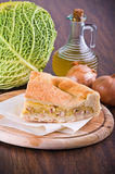Savoy cabbage calzone. Royalty Free Stock Images