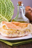 Savoy cabbage calzone. Royalty Free Stock Photography