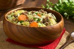 Savoy Cabbage, Carrot, Potato, Mincemeat Stew Royalty Free Stock Photo