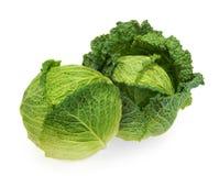 Savoy cabbage isolated white background.  stock photo