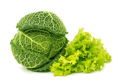 Savoy cabbage isolated Royalty Free Stock Images