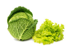 Savoy cabbage isolated Royalty Free Stock Photos