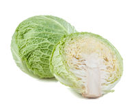 Savoy cabbage isolated Stock Image