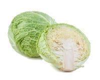 Savoy cabbage isolated. On white background Stock Image