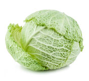 Savoy cabbage isolated. On white background Stock Photos