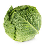 Savoy cabbage isolated on white Stock Image