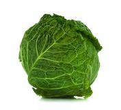Savoy cabbage isolated on a white background Stock Photos