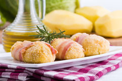 Savoy cabbage and potato croquettes. Royalty Free Stock Image