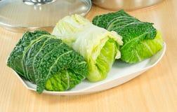 Savoy cabbage rolls Stock Photography