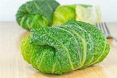Savoy cabbage rolls Stock Photo