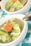 Savoy cabbage stew in bowls Stock Photography