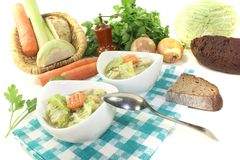 Savoy cabbage stew with carrots Royalty Free Stock Photography