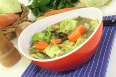 Savoy cabbage stew Royalty Free Stock Images