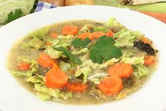 Savoy cabbage stew Royalty Free Stock Photography