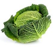 Savoy Cabbage On White Stock Photos