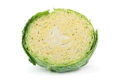 Savoy cabbage on white Royalty Free Stock Image