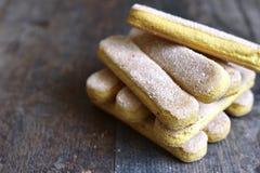 Savoyardy - biscuit for making tiramisu. Royalty Free Stock Images
