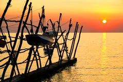 Savudrija sunset Royalty Free Stock Images